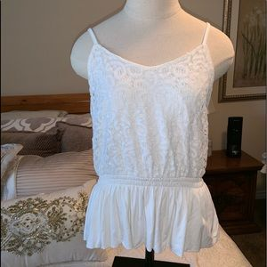 White lace tank top from Express-  size medium